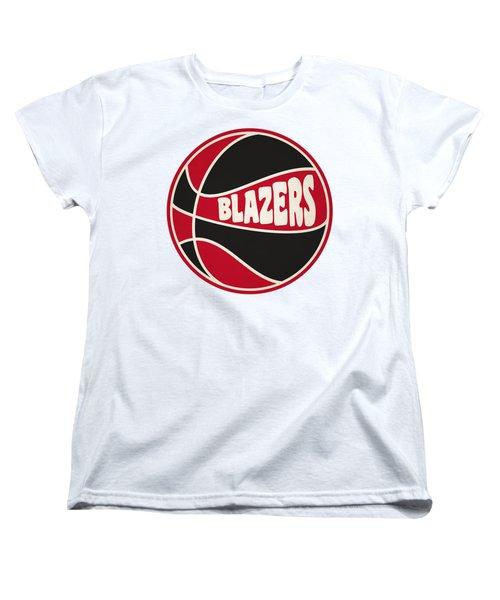 Portland Trail Blazers Retro Shirt Women's T-Shirt (Standard Cut) by Joe Hamilton