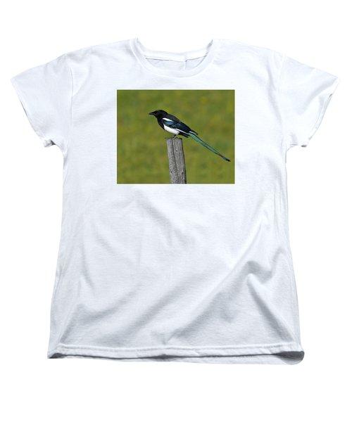 Prairie Perch Women's T-Shirt (Standard Cut) by Tony Beck
