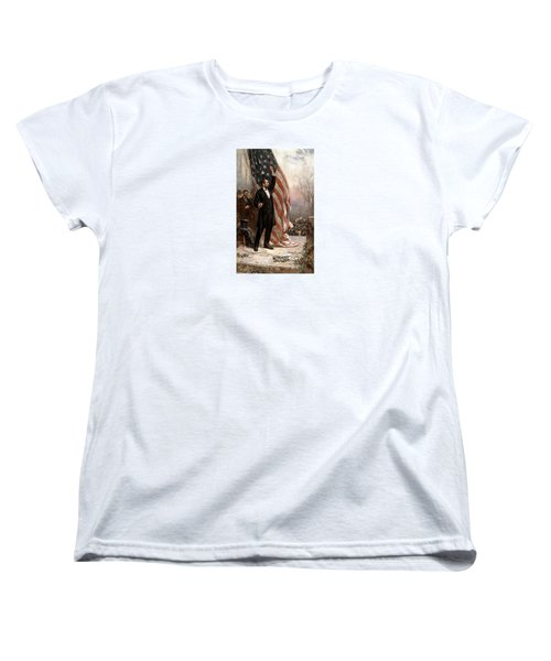 President Abraham Lincoln Giving A Speech Women's T-Shirt (Standard Cut) by War Is Hell Store