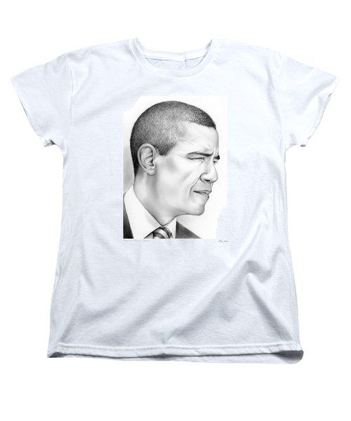 President Obama Women's T-Shirt (Standard Cut) by Greg Joens