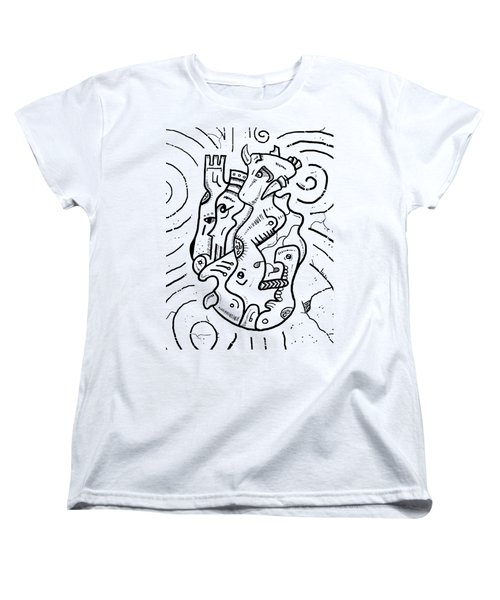 Psychedelic Animals Women's T-Shirt (Standard Cut) by Sotuland Art