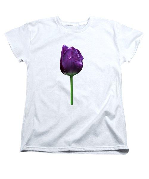 Purple Tulip T Women's T-Shirt (Standard Cut) by Ivan Slosar