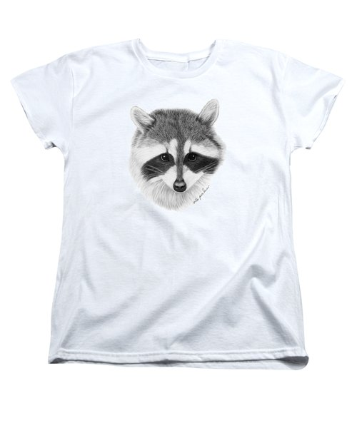 Raccoon Women's T-Shirt (Standard Cut) by Rita Palmer