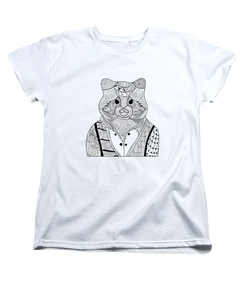 Raccoon Women's T-Shirt (Standard Cut) by Serkes Panda