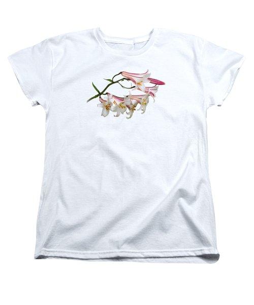 Radiant Lilies Women's T-Shirt (Standard Cut) by Gill Billington