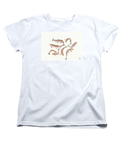 Rainbow Trout Women's T-Shirt (Standard Cut) by Gareth Coombs