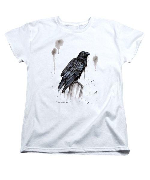 Raven  Women's T-Shirt (Standard Cut) by Sarah Stribbling
