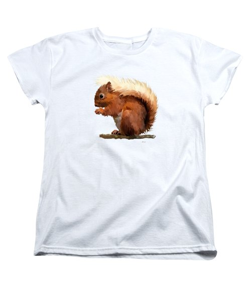 Red Squirrel Women's T-Shirt (Standard Cut) by Bamalam  Photography
