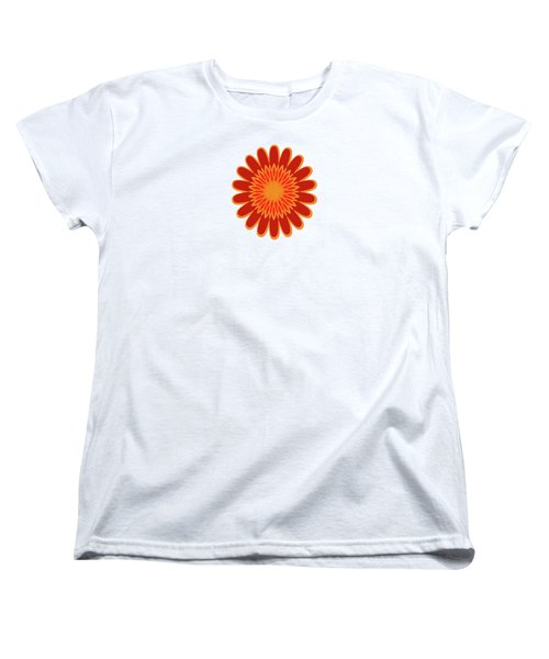 Red Sunflower Pattern Women's T-Shirt (Standard Cut) by Methune Hively