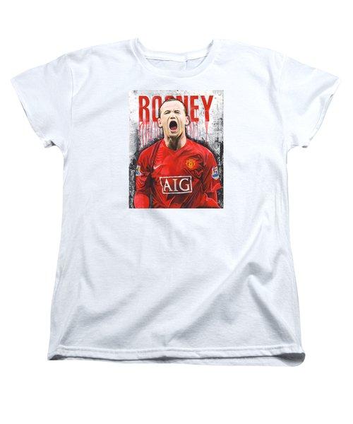 Rooney Women's T-Shirt (Standard Cut) by Jeff Gomez