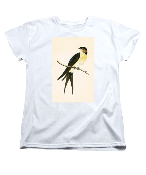 Rufous Swallow Women's T-Shirt (Standard Cut) by English School