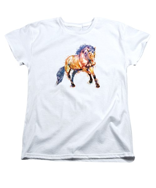 Running Horse Women's T-Shirt (Standard Cut) by Marian Voicu