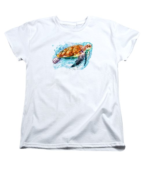 Sea Turtle  Women's T-Shirt (Standard Cut) by Marian Voicu