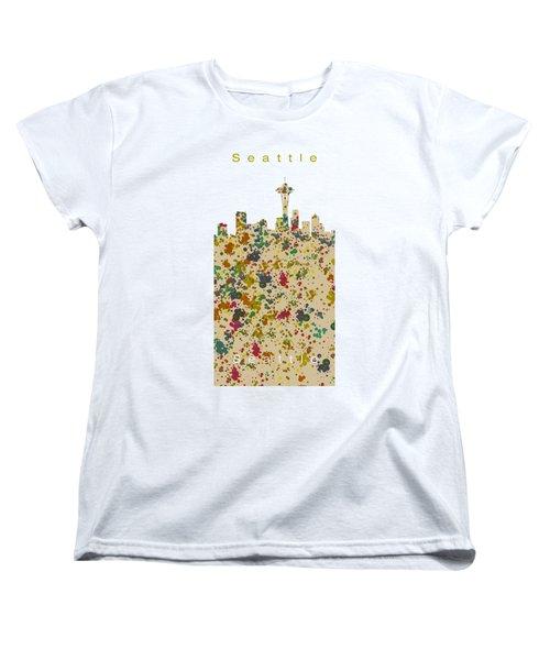Seattle Skyline.2 Women's T-Shirt (Standard Cut) by Alberto RuiZ