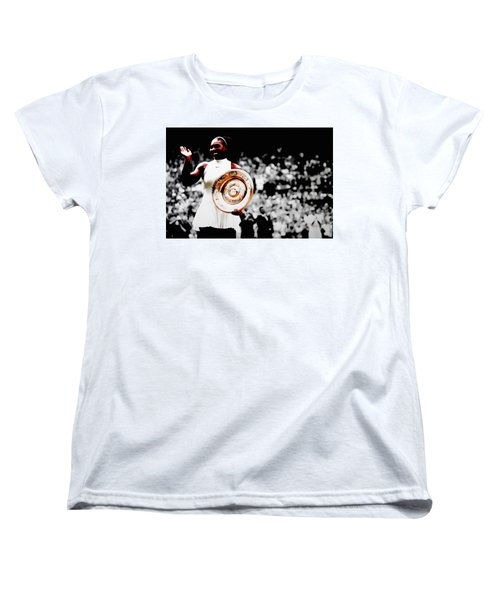 Serena 2016 Wimbledon Victory Women's T-Shirt (Standard Cut) by Brian Reaves