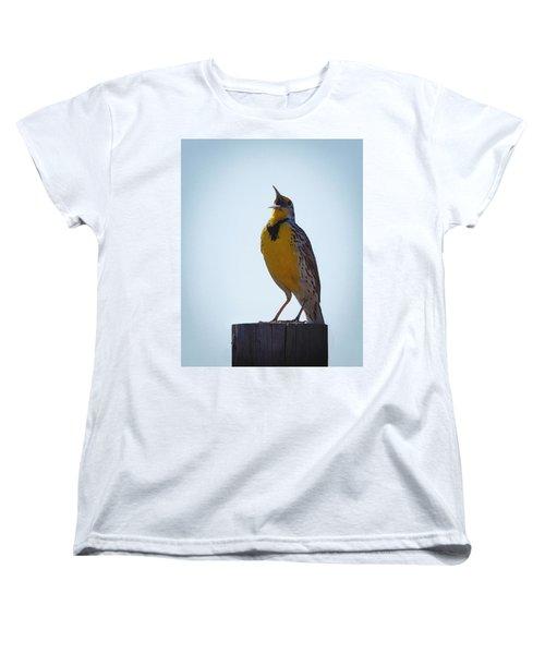 Sing Me A Song Women's T-Shirt (Standard Cut) by Ernie Echols
