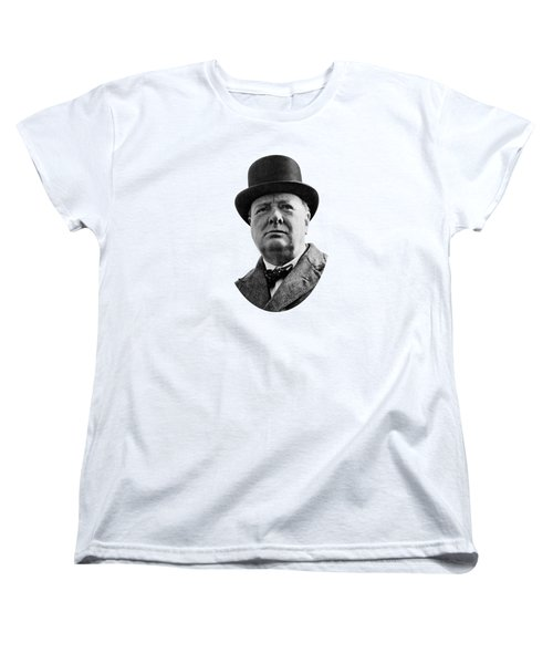 Sir Winston Churchill Women's T-Shirt (Standard Cut) by War Is Hell Store
