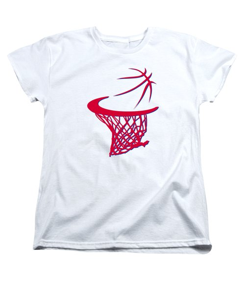 Sixers Basketball Hoop Women's T-Shirt (Standard Cut) by Joe Hamilton