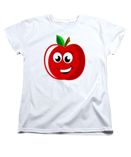 Smiley Tomato With Changeable Background  Women's T-Shirt (Standard Cut) by Sebastien Coell