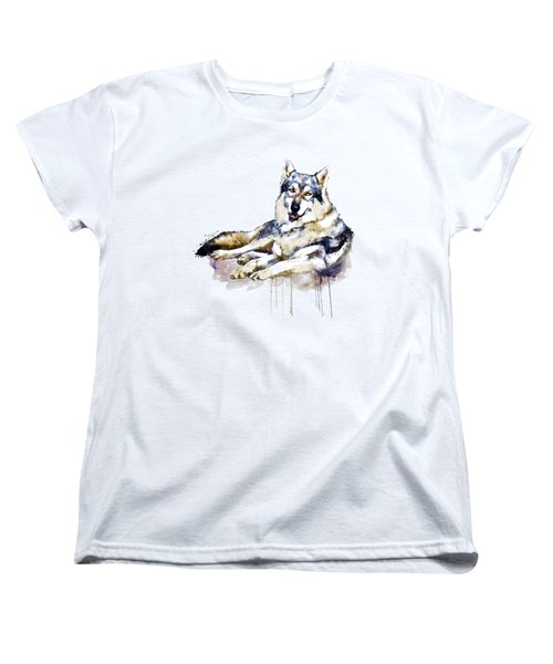 Smiling Wolf Women's T-Shirt (Standard Cut) by Marian Voicu