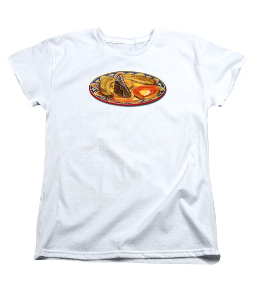 Snacking Butterfly Women's T-Shirt (Standard Cut) by Bob Slitzan