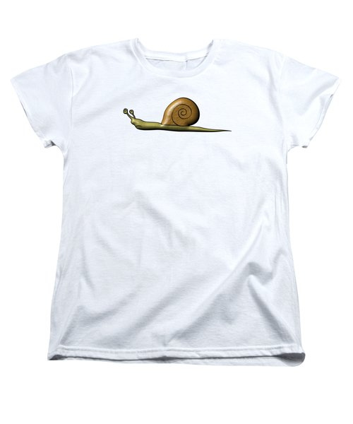 Snail Women's T-Shirt (Standard Cut) by Michal Boubin