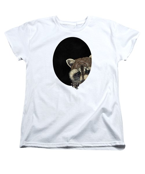 Socially Anxious Raccoon Women's T-Shirt (Standard Cut) by ZH Field