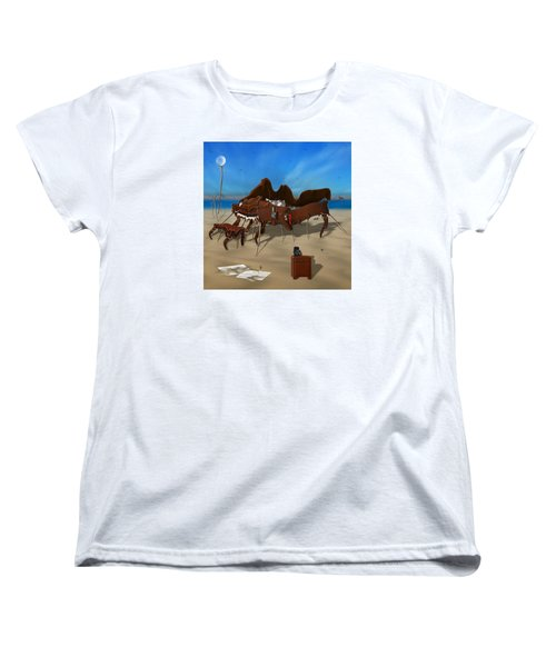 Softe Grand Piano Se Sq Women's T-Shirt (Standard Cut) by Mike McGlothlen