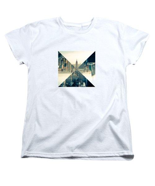 Split Skyline Ny Women's T-Shirt (Standard Cut) by Jamie Kingswood