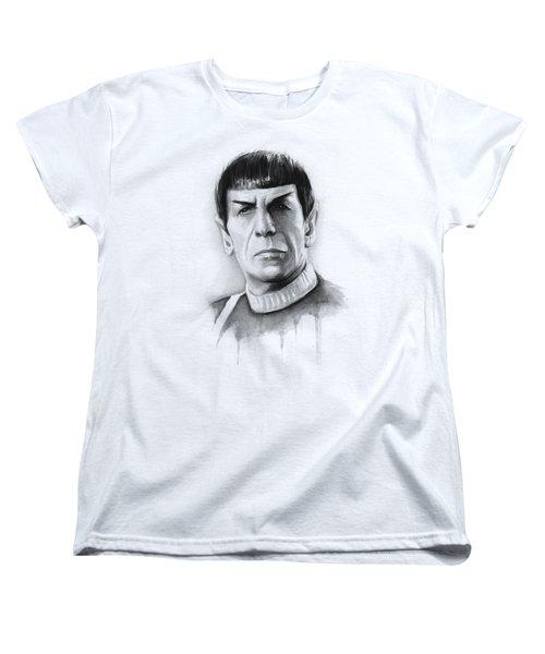 Star Trek Spock Portrait Women's T-Shirt (Standard Cut) by Olga Shvartsur