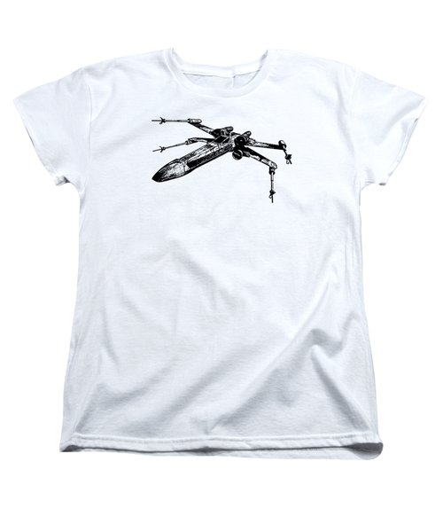 Star Wars T-65 X-wing Starfighter Tee Women's T-Shirt (Standard Cut) by Emf