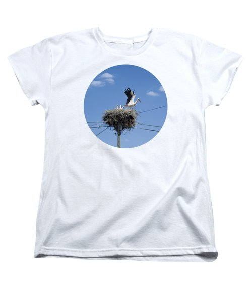 Storks Nest Alentejo Women's T-Shirt (Standard Cut) by Mikehoward Photography