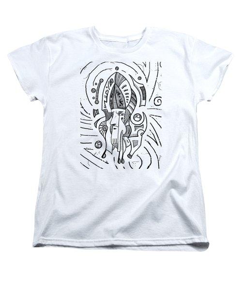 Surrealist Head Women's T-Shirt (Standard Cut) by Erki Schotter