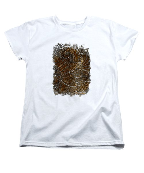 Swan Dance Earthy 3 Dimensional Women's T-Shirt (Standard Cut) by Di Designs