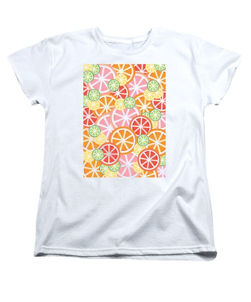 Sweet And Sour Citrus Print Women's T-Shirt (Standard Cut) by Lauren Amelia Hughes