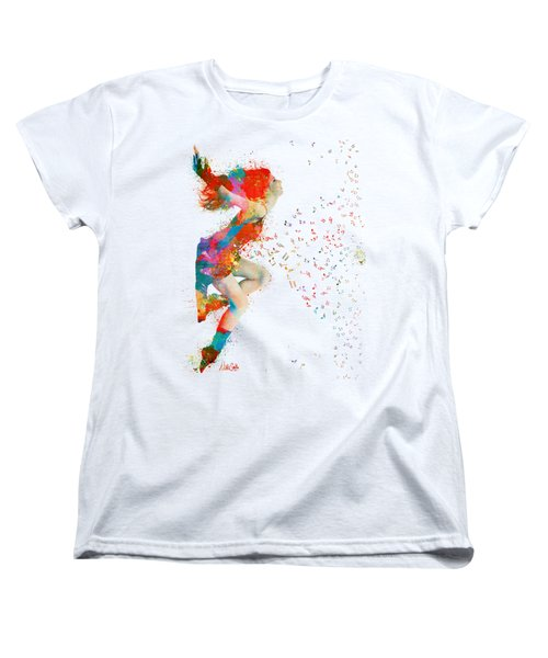 Sweet Jenny Bursting With Music Women's T-Shirt (Standard Cut) by Nikki Smith