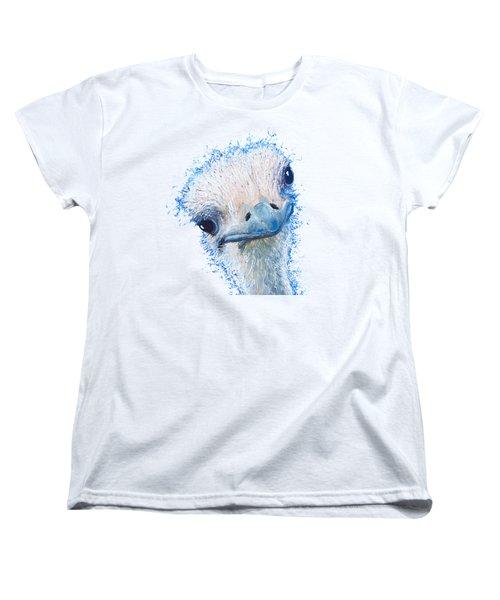 T-shirt With Emu Design Women's T-Shirt (Standard Cut) by Jan Matson