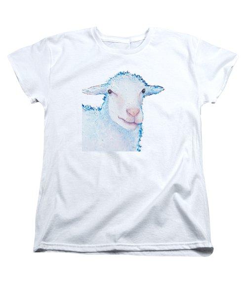 T-shirt With Sheep Design Women's T-Shirt (Standard Cut) by Jan Matson