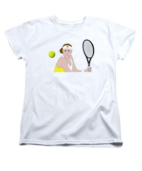 Tennis Ball Focus Women's T-Shirt (Standard Cut) by Priscilla Wolfe