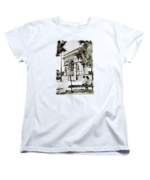 The Arc De Triomphe Paris Black And White Women's T-Shirt (Standard Cut) by Marian Voicu