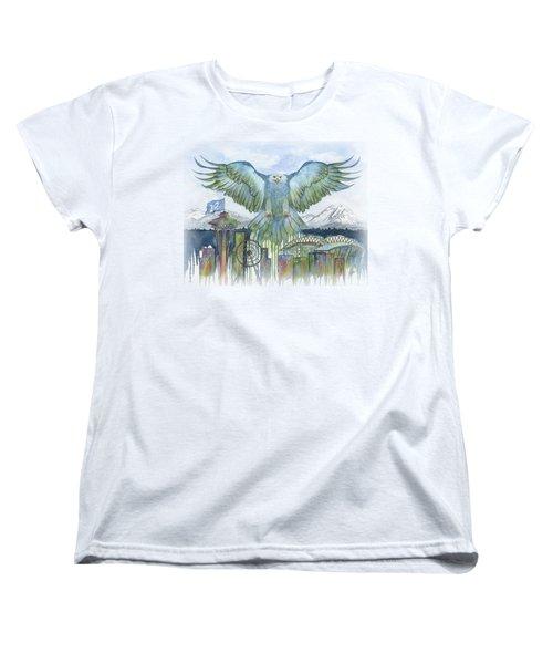 The Blue And Green Women's T-Shirt (Standard Cut) by Julie Senf