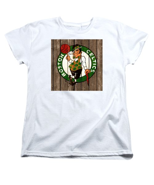 The Boston Celtics 2b Women's T-Shirt (Standard Cut) by Brian Reaves