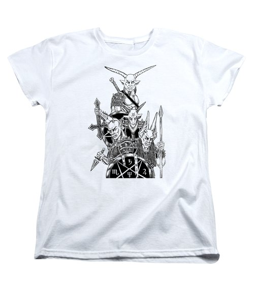 The Infernal Army White Version Women's T-Shirt (Standard Cut) by Alaric Barca