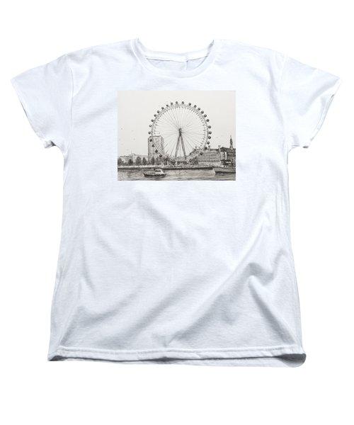 The London Eye Women's T-Shirt (Standard Cut) by Vincent Alexander Booth