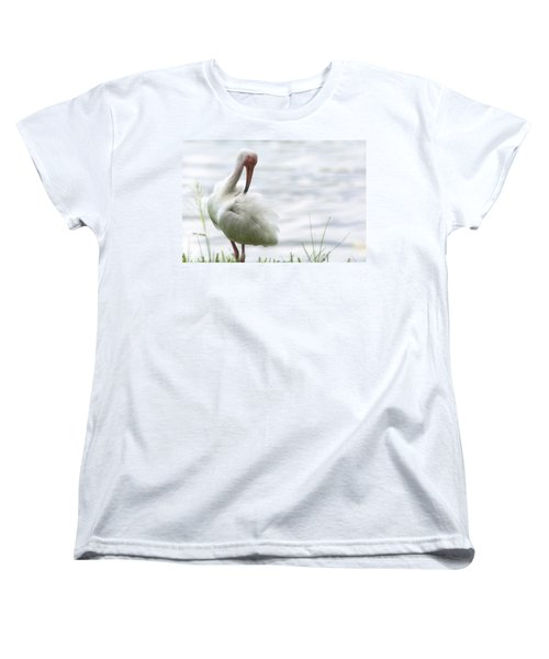 The White Ibis  Women's T-Shirt (Standard Cut) by Saija  Lehtonen