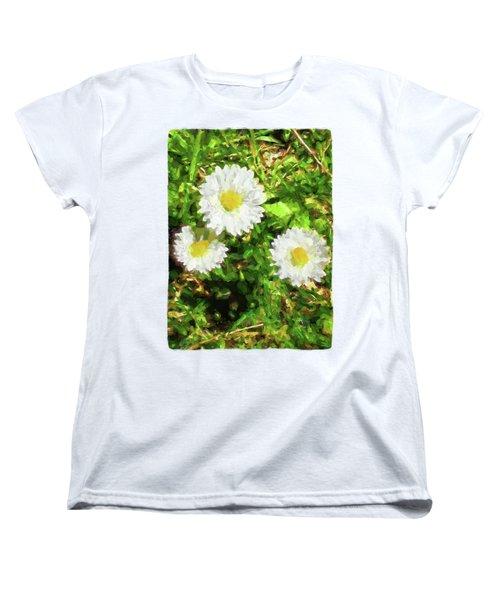 Three Daisies In The Sun Women's T-Shirt (Standard Cut) by Jackie VanO