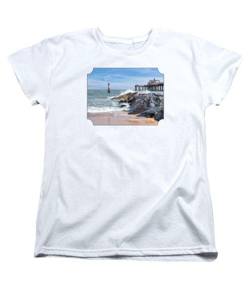 Tide's Turning - Southwold Pier Women's T-Shirt (Standard Cut) by Gill Billington