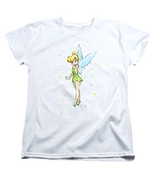 Tinker Bell Women's T-Shirt (Standard Cut) by Olga Shvartsur