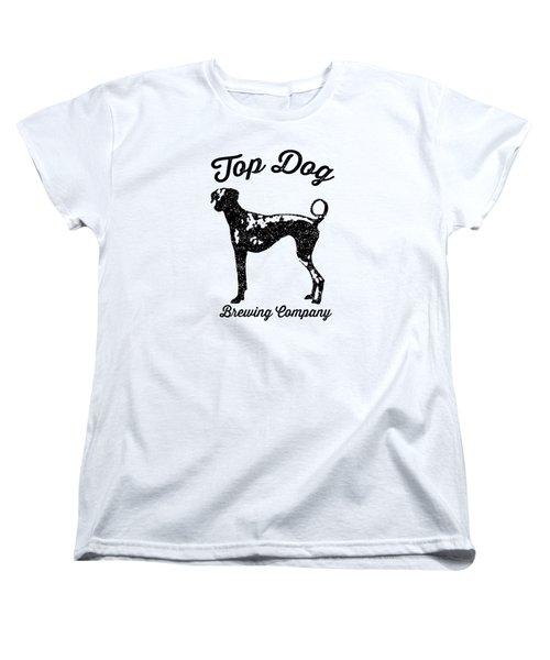 Top Dog Brewing Company Tee Women's T-Shirt (Standard Cut) by Edward Fielding