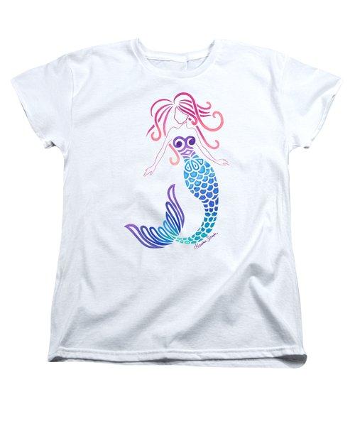 Tribal Mermaid Women's T-Shirt (Standard Cut) by Heather Schaefer
